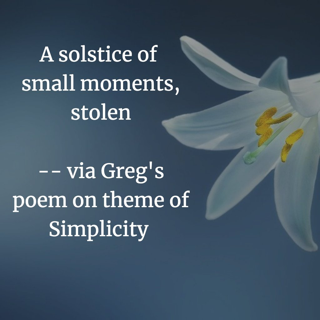 A solstice of small moments, stolen
